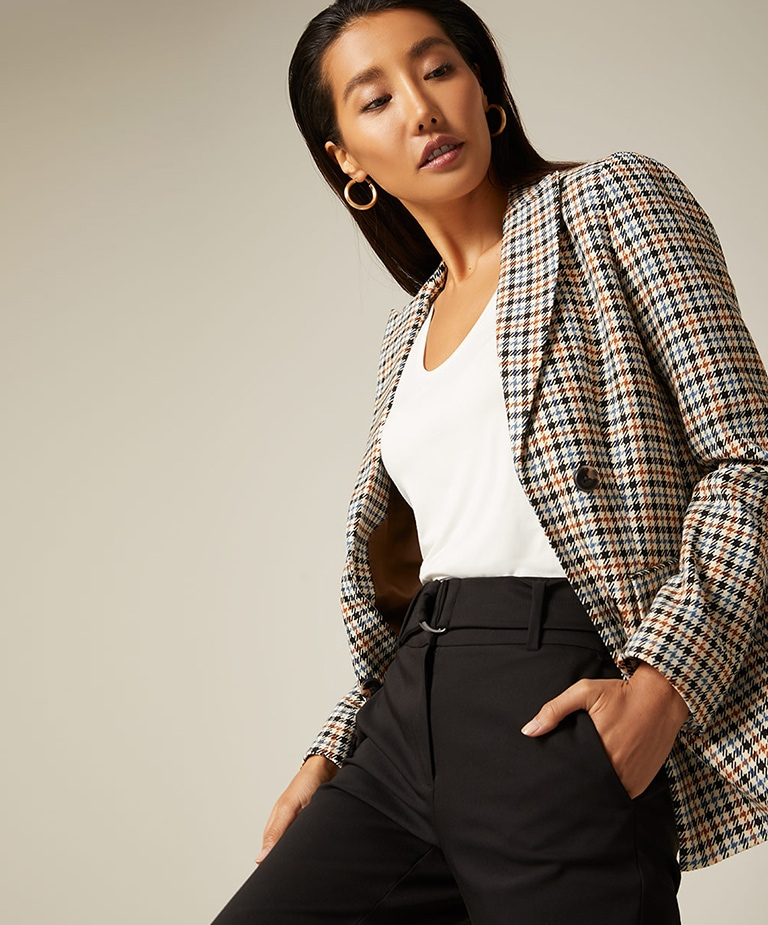 For a limited time 30% off blazers, bottoms and outerwear.