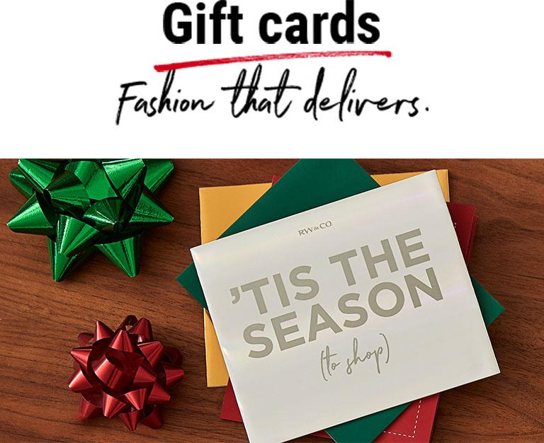 Cartes-cadeaux Le cadeau parfait à tout coup.