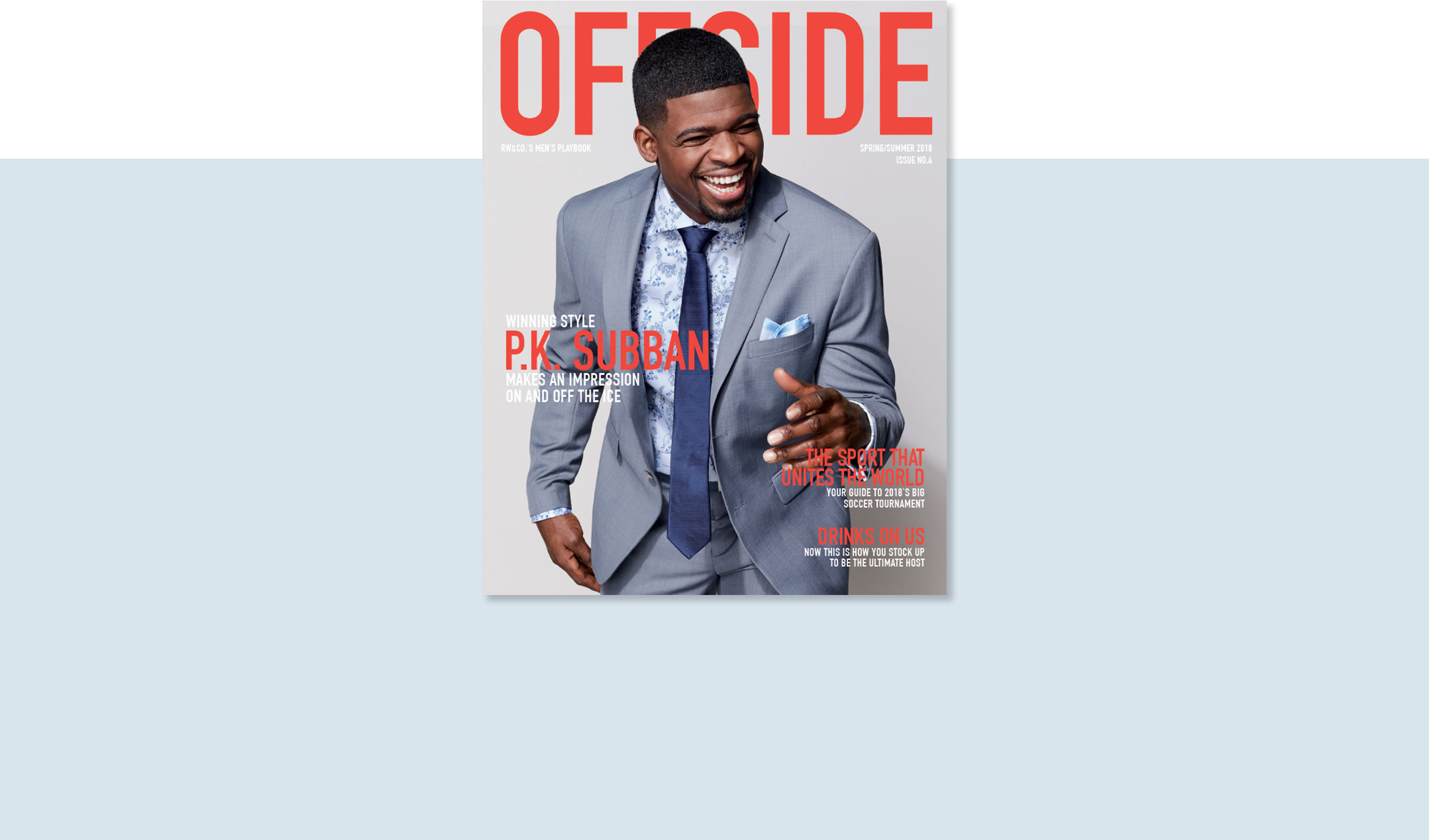 Cover of the Offside magazine with PK Subban