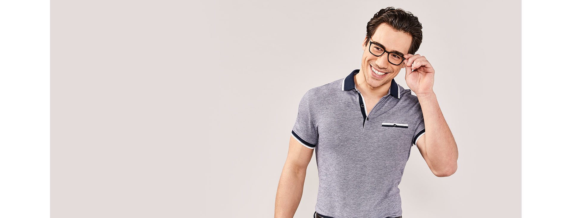 man with polo